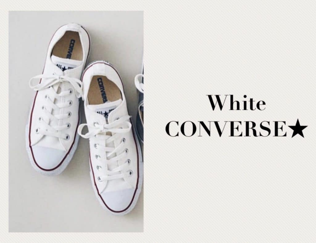 ダサ見えしない「白コンバース」の着こなし3選|アラサーのカジュアル強化塾②【スタイリストがイラストで解説】