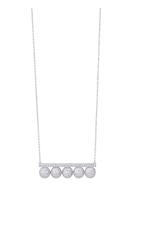 4珠のパールと、ダイヤモンドを