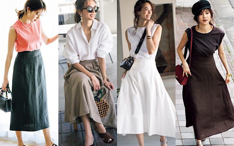 通勤にも休日にも使える「キレイめスカート」コーデ6選|コンサバすぎず、ほどよくカジュアル