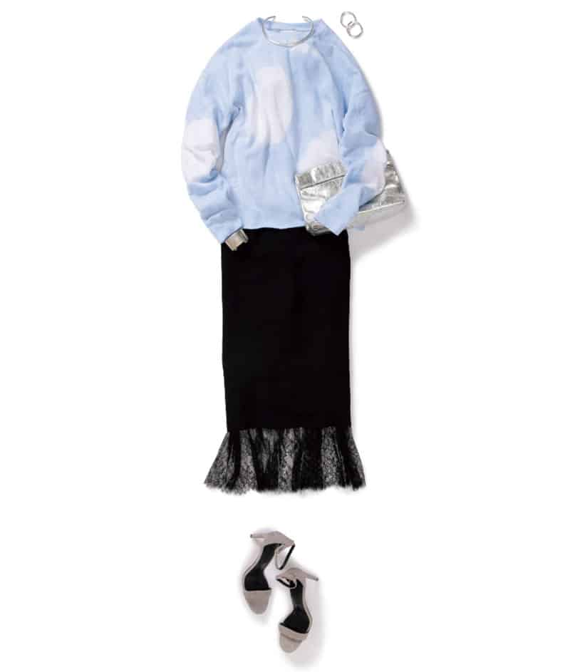 女っぽさ満点のスカートに、パリ
