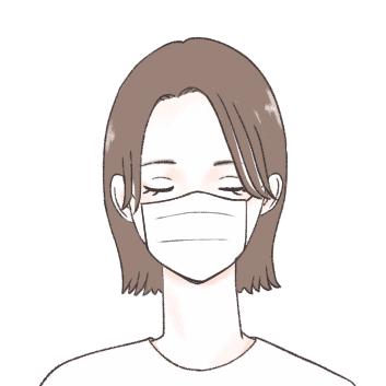マスクで顔を覆っている分、額を