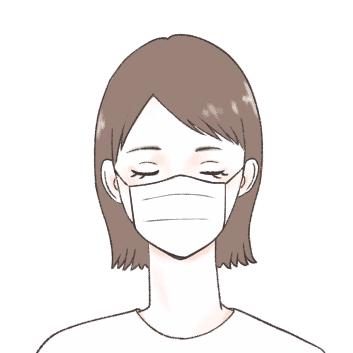 マスクをしている日の前髪は透け
