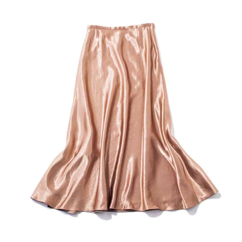 【J】サテンスカート 品のある