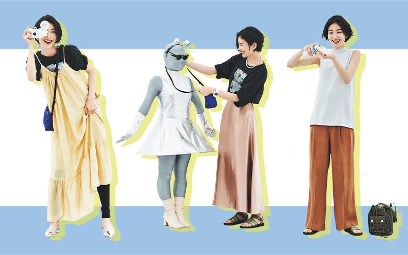 ミニマム10着で大人カジュアルな7月の着回しDiary【7/21~31のコーデまとめ】