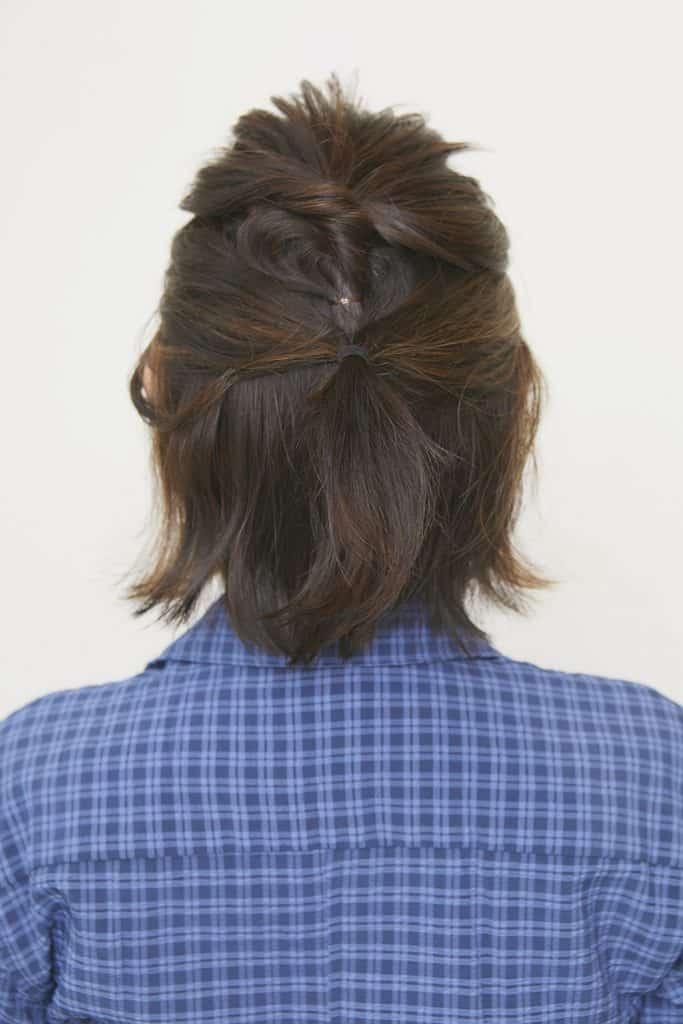 このタイプの白髪には、おくれ毛
