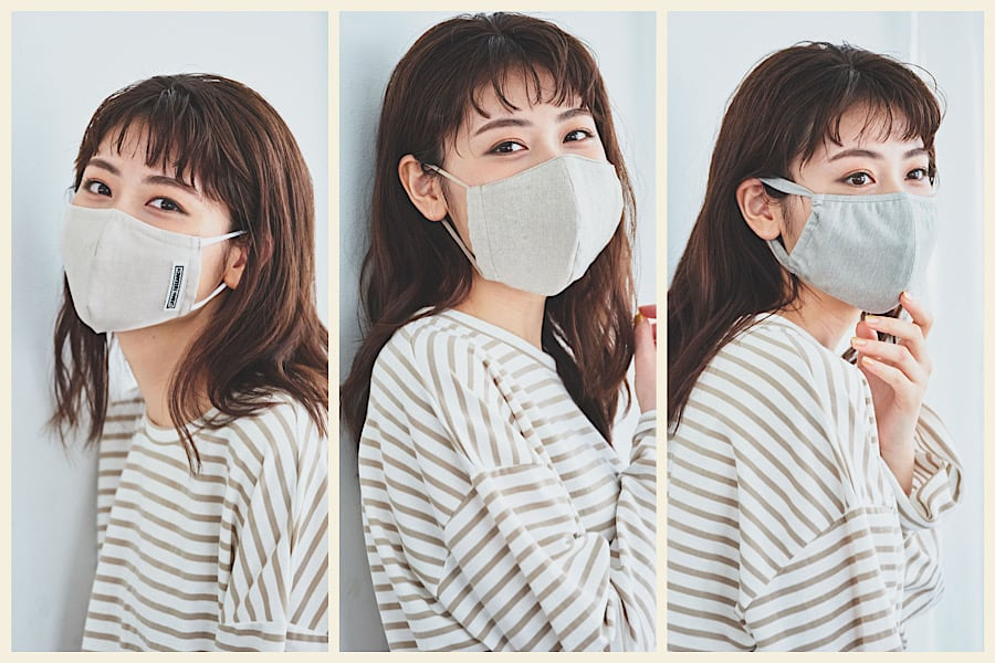 洗えてサステナブル!大人のオシャレマスク3選【②トレンドのベージュ~グレー系】