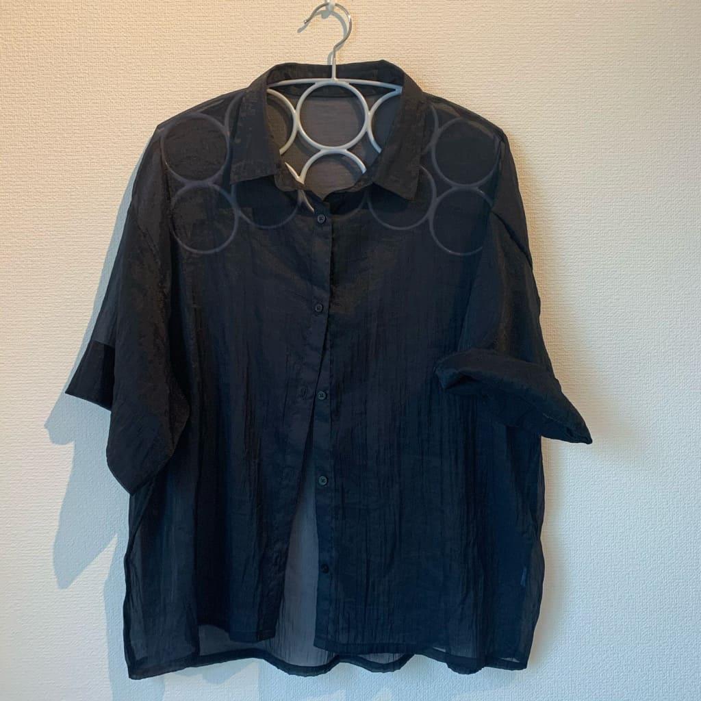 GUで購入!シースルーシャツ、チュニックTシャツなど着回し抜群アイテムが5点で1万円以下!