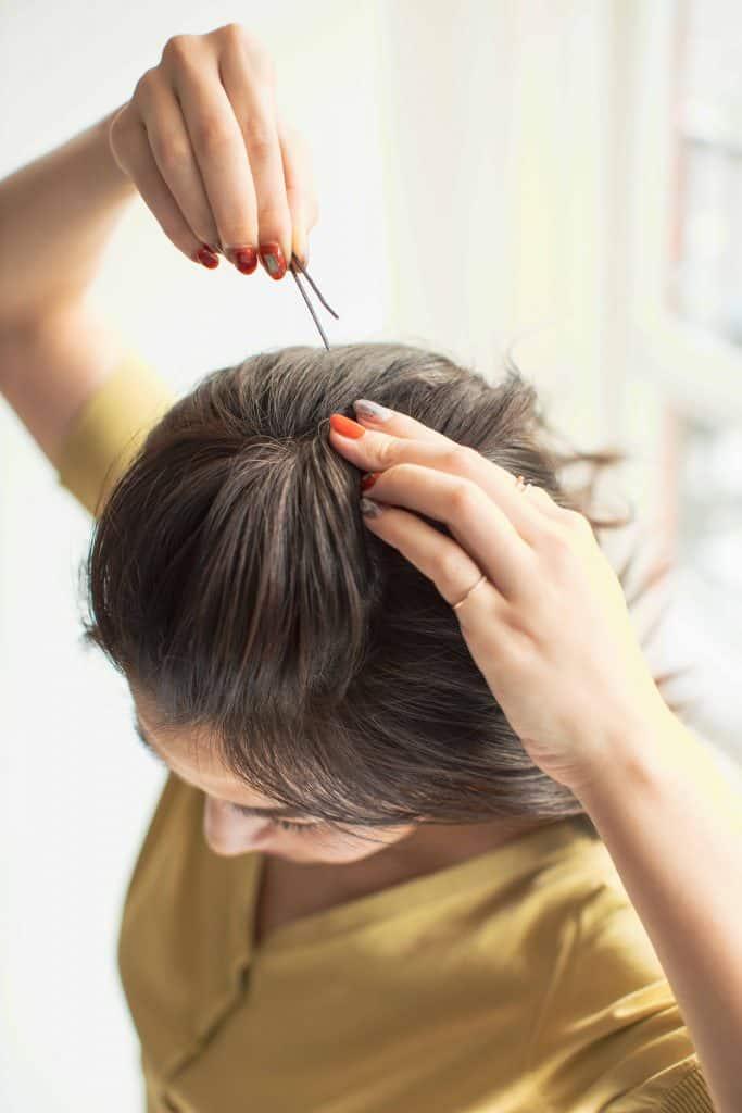 フェイスシールドのヘアアレンジ