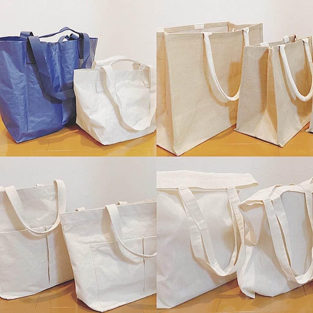 【プチプラ】無印良品の人気「エコバッグ」4型徹底比較!|オシャレ&機能性抜群で爆売れ中