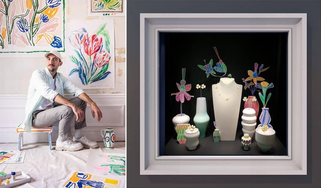 アレクサンドル・ベンジャミン・ナヴェとのコラボレーションで、伊勢丹新宿店のザ・ステージがパステルカラーの花満開の庭に