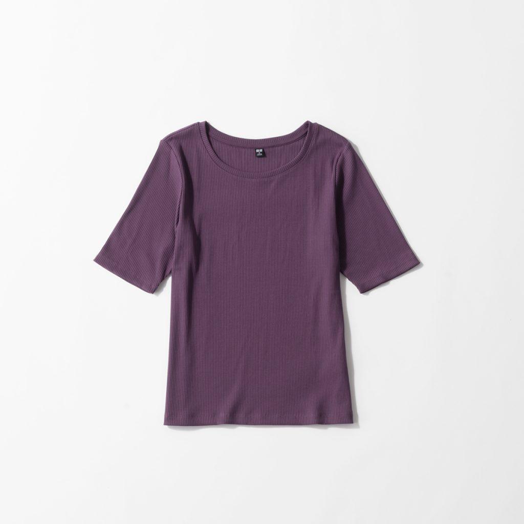アラサー女子に嬉しい「ユニクロリブTシャツ」の着痩せコーデ3選【足元コンバース】
