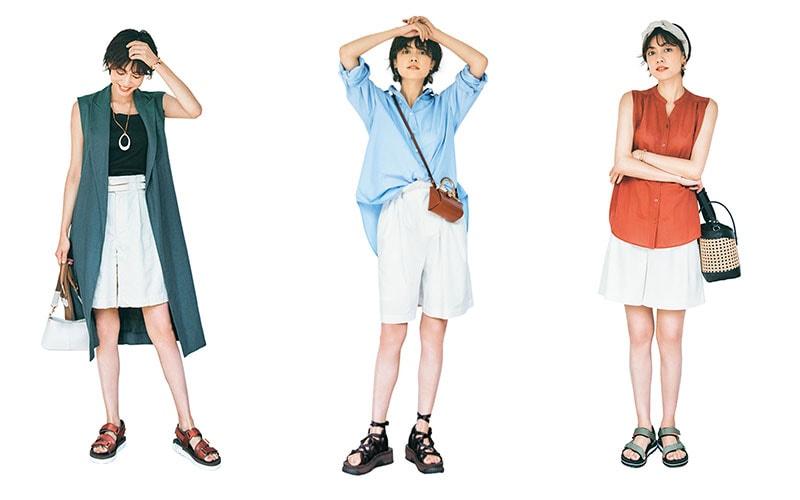 暑すぎるから穿きたい「ショーパン」大人女子でもOKなコーデ3選