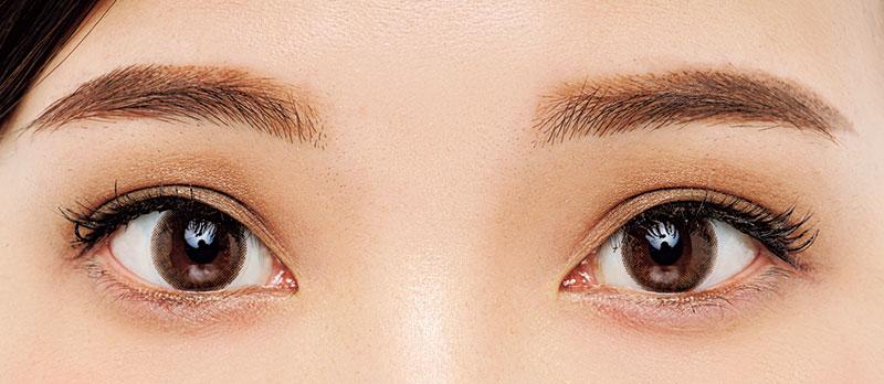 「目を開けた時に黒目と一体化す