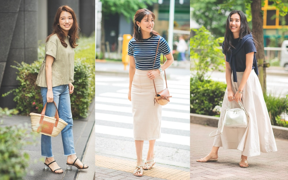 きれいめ派女子の最旬カラーTシャツコーデ3選|アラサー女子の TシャツSNAP①