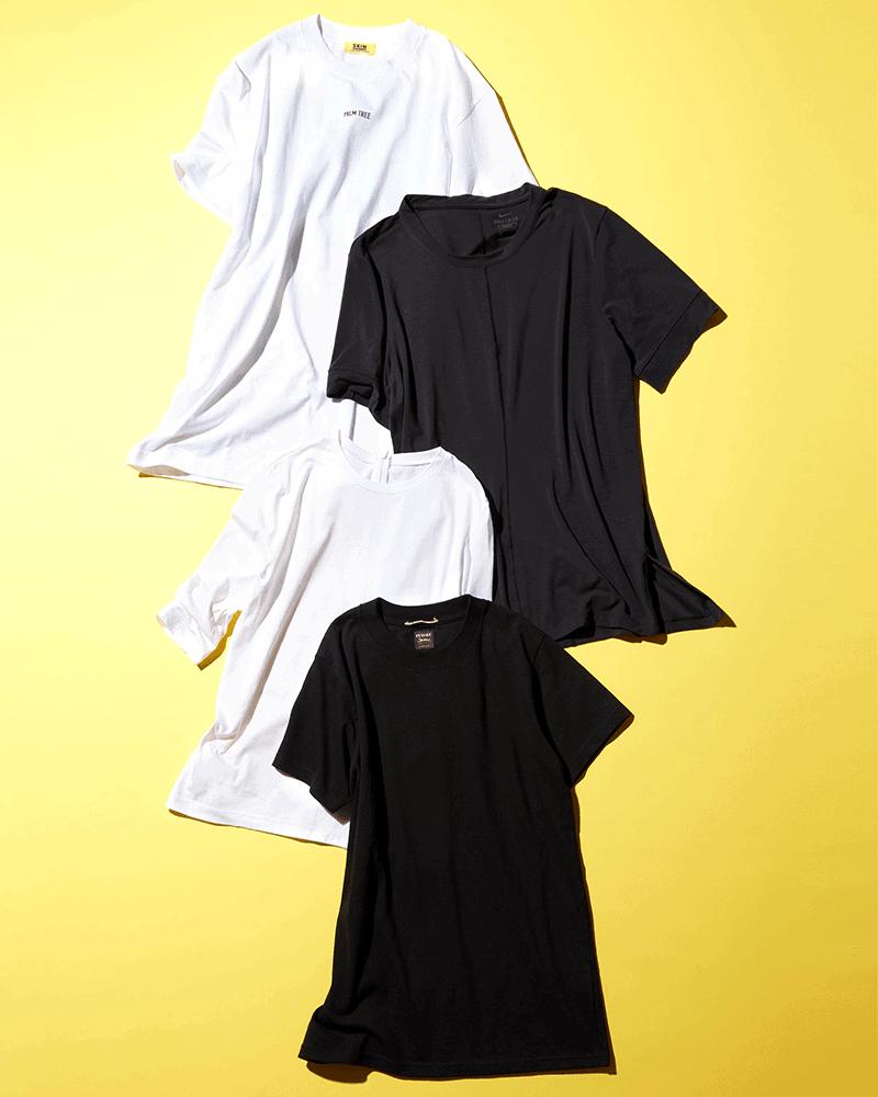 【ナイキ他】CLASSY.スタッフが本気で買って良かった『名品Tシャツ』|①モノトーンTシャツ編