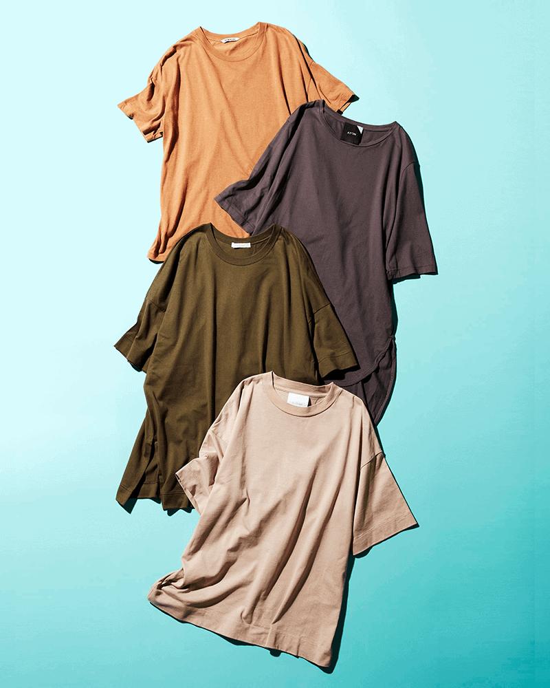 【ATON他】CLASSY.スタッフが本気で買って良かった『名品Tシャツ』|②ニュアンスカラーTシャツ編