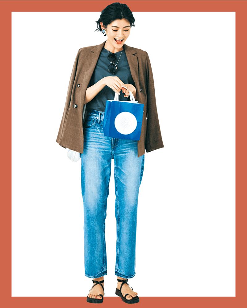 Tシャツデニムもジャケット1枚でかっちりキマる【今日の着回しDiary】