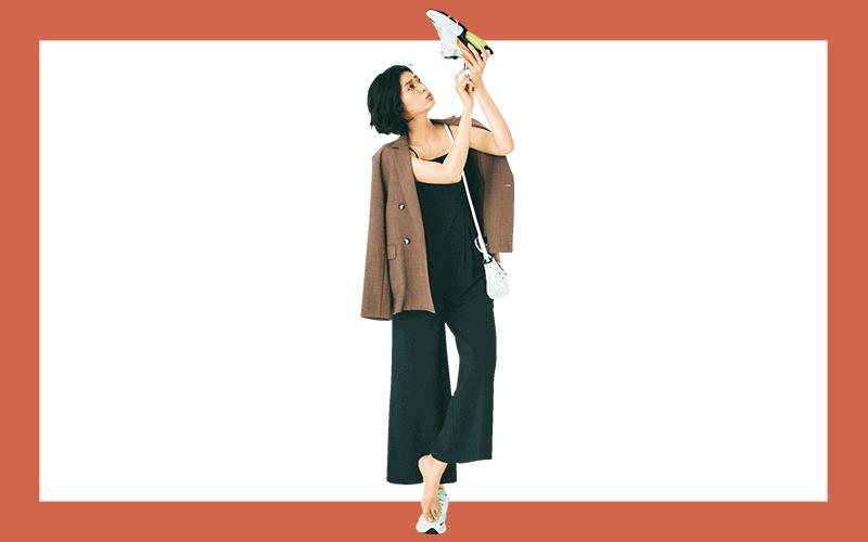 オールインワンをキャミソール使いで女っぽく【今日の着回しDiary】