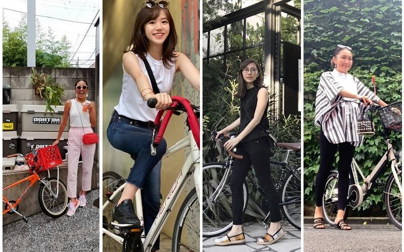 オシャレな大人の自転車ファッションコーデ4選