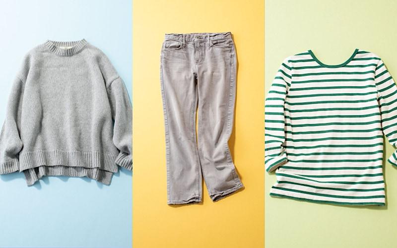CLASSY.スタイリストがつい買ってしまう名品ベーシック服3選|ボーダー、デニム、ニット