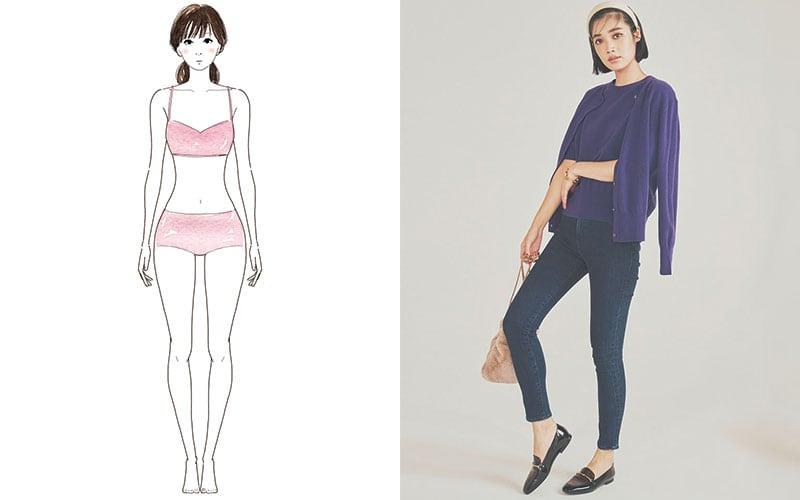 【骨格別】スタイルがよく見える「定番パンツ」3選【ウェーブ体型編】
