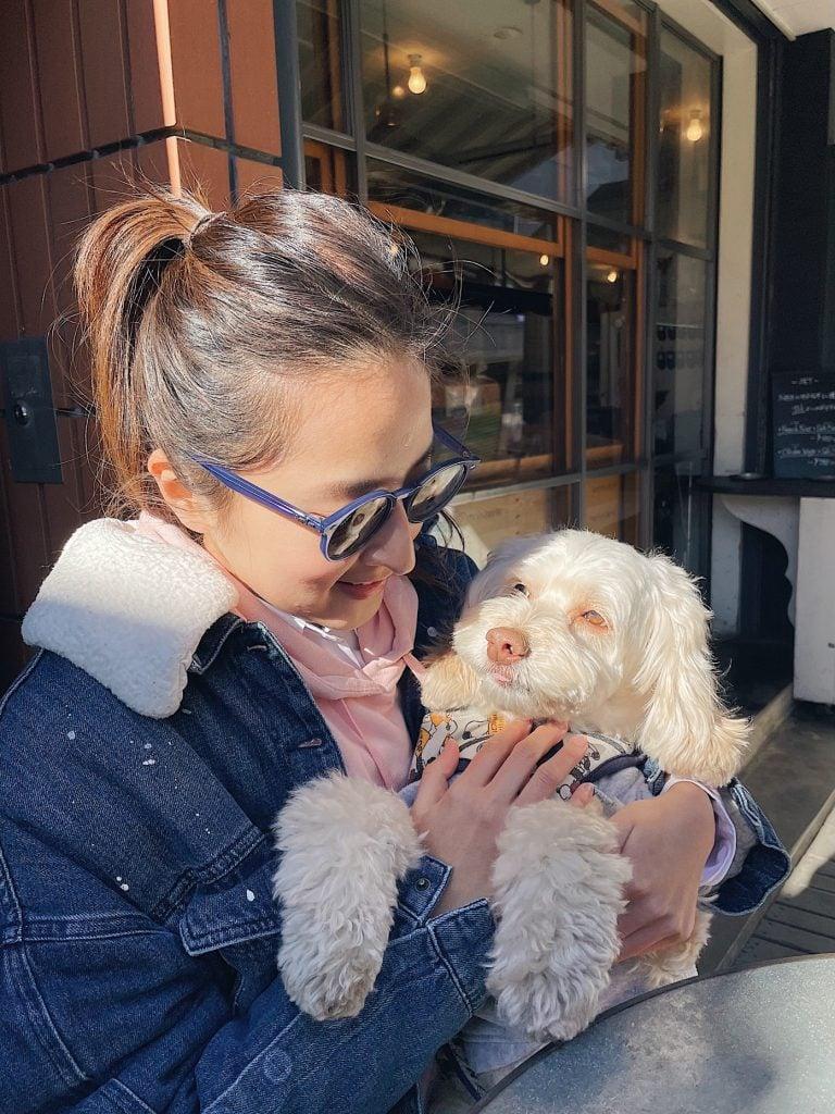 ↑愛犬Lukeとの写真です♪笑