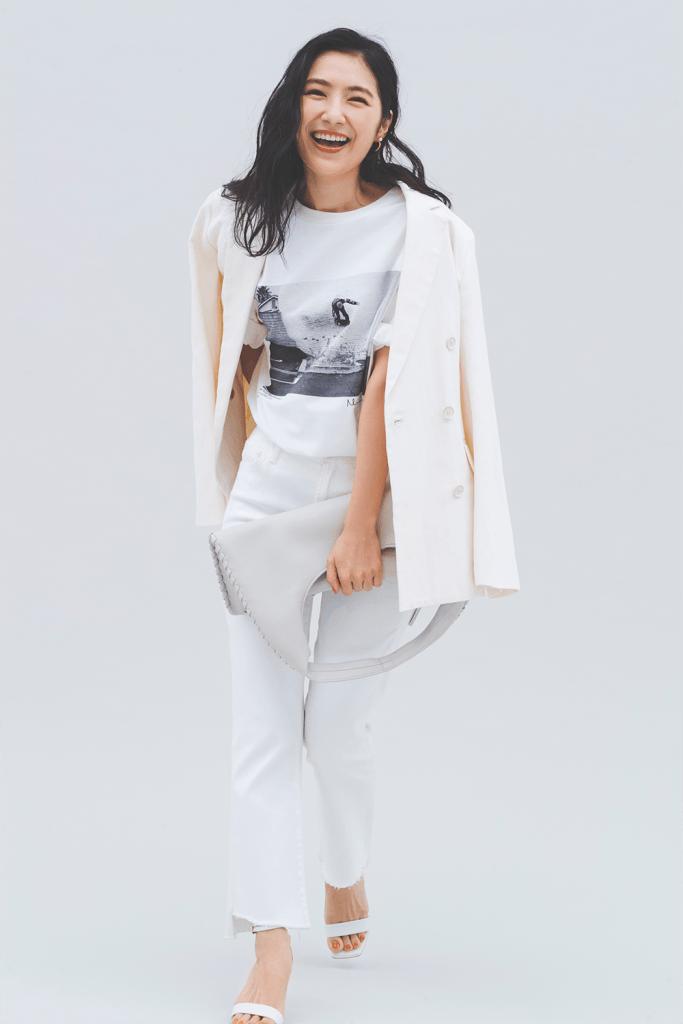 「Tシャツ×デニム」のシンプル