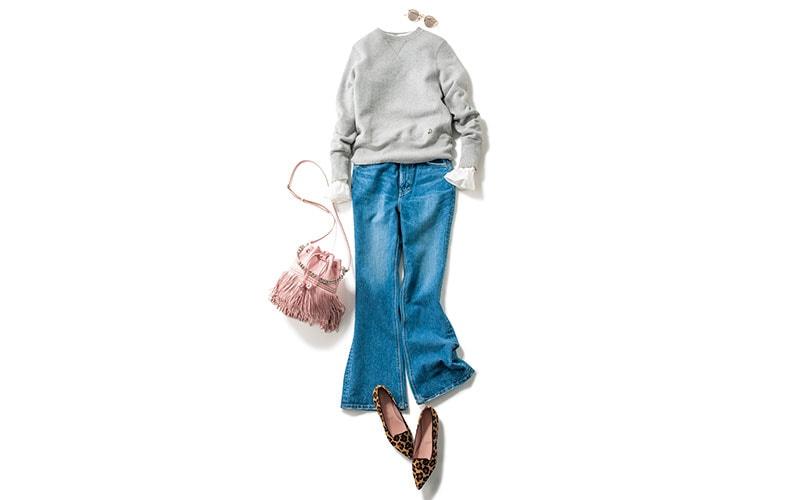 背が低い人の「スウェットコーデ」【今日の着回しDiary】