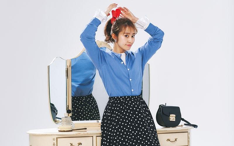 【桜井玲香】身長が低い人の「ドットスカート」コーデ【今日の着回しDiary】