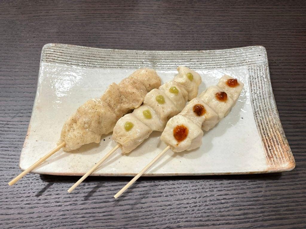 材料(3本分) 鶏ササミ3本