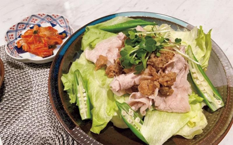 【×冷しゃぶサラダ】 「お豆腐